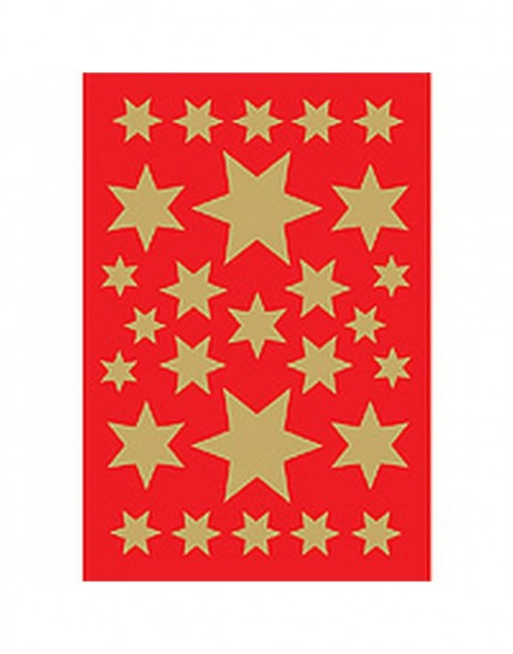 Stickers stars gold foil 3 sheets