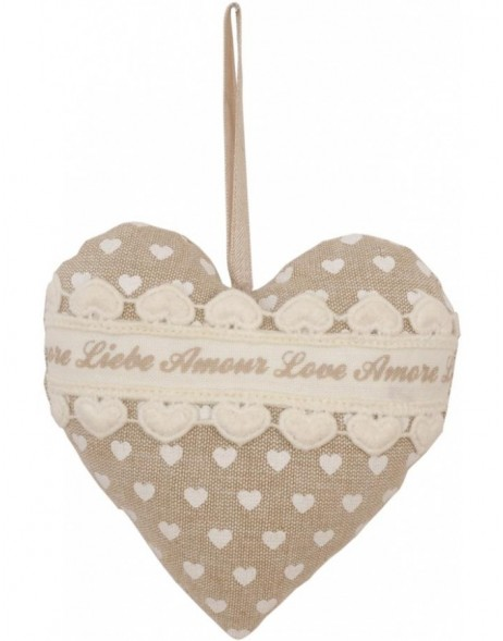 heart pendant 13 cm light brown