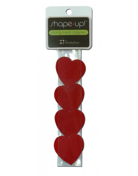 Herz Magnete SHAPE UP 4 Stück in rot