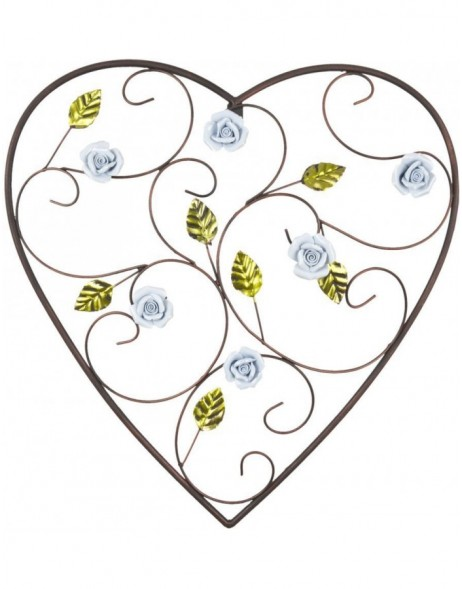 heart-shaped wall decoration 44x45 cm