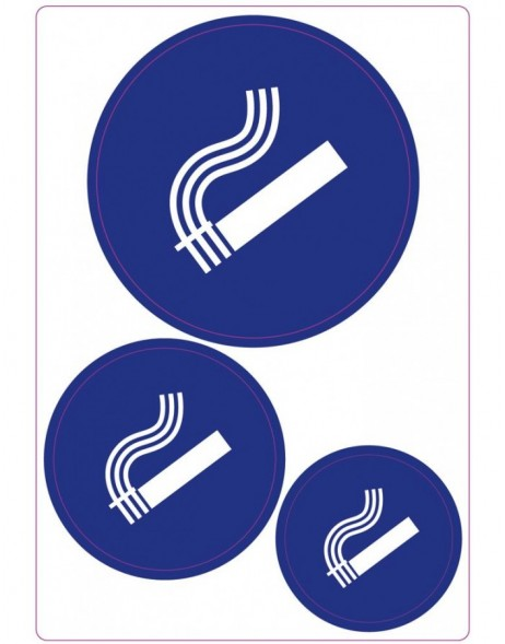 Stickers Smoking Allowed HERMA, self adhesive