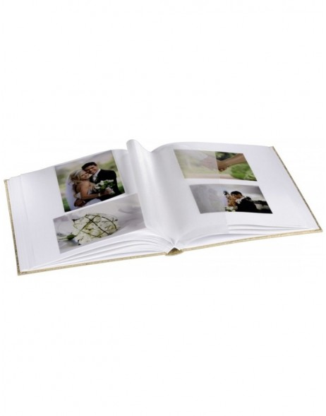 Caracas Bookbound Album, 29x32 cm, 50 white pages, gold