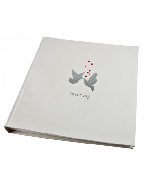 Wedding guest book Dove