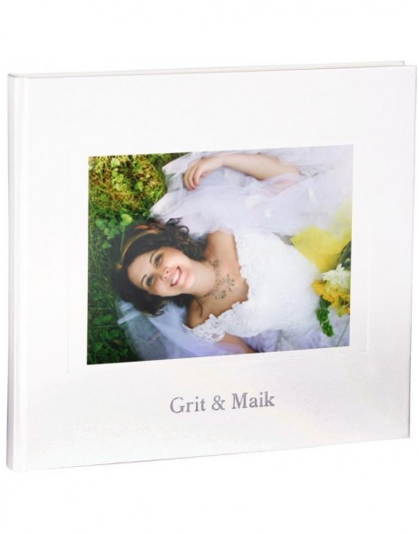 Wedding guest book KOLARA with embossing and picture