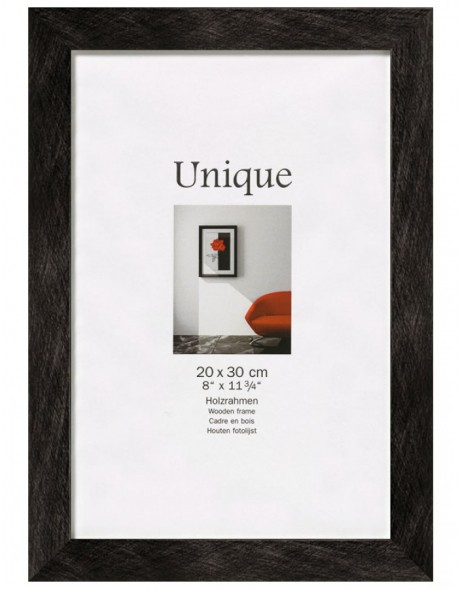 Photo frame UNIQUE  5 - black, 13x18 cm, wood
