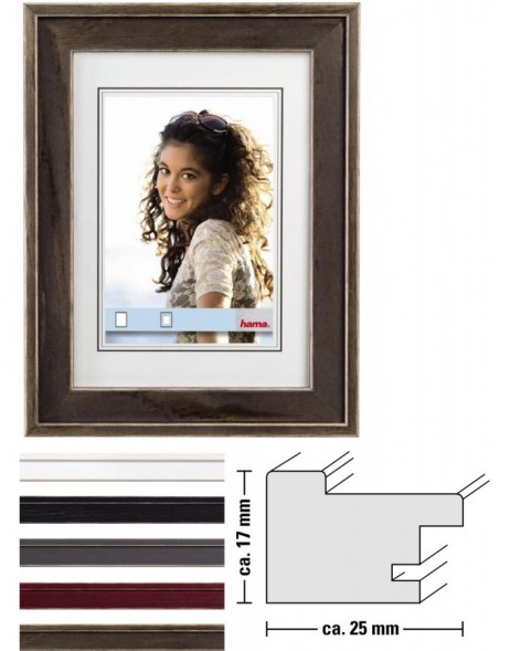 Wooden frame Laura - stepped profile