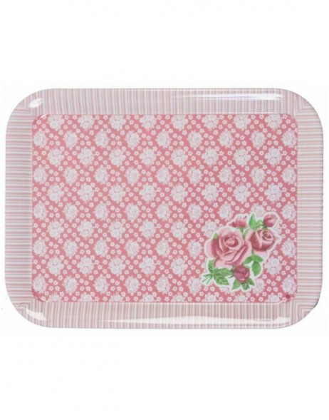 IDYLLIQUE ROSE Tablett 29x39 cm