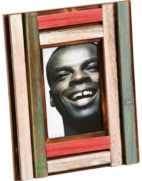 Iroko wood photo frame ethno frame 10x10 cm, 10x15 cm and 13x18 cm
