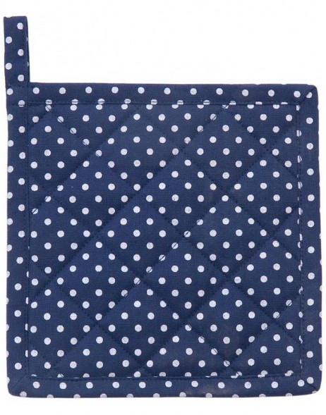 JUST DOTS children potholders royal blue