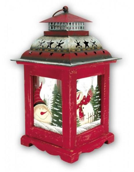 weihnachtsdekoration laterne kh623 mit schneemann illustriert. Black Bedroom Furniture Sets. Home Design Ideas