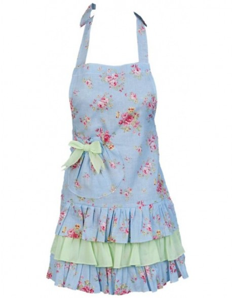 KT041K.003 Clayre Eef Children apron FLOWERS blue