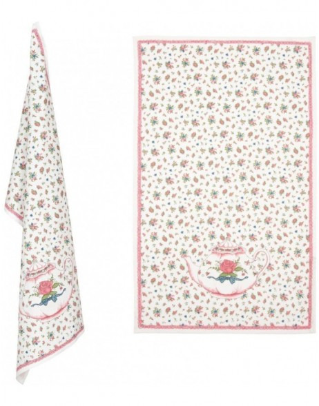 KT042C.004 Clayre Eef TEA TIME towel pink