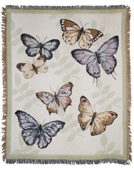 KT060.008 Clayre Eef BUTTERFLY plaid colourful