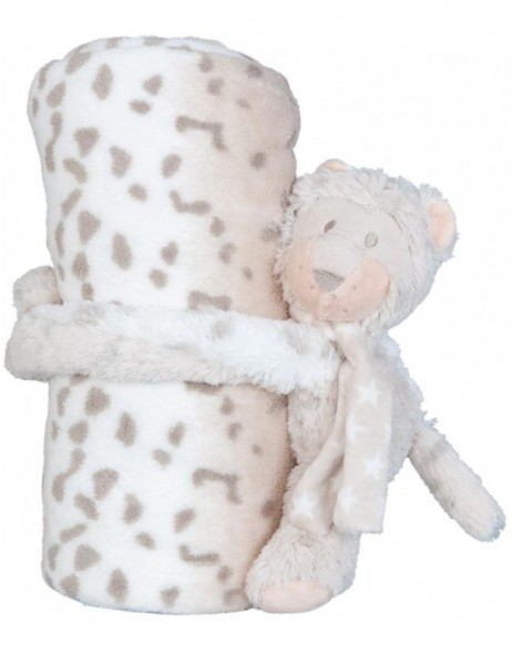 KT060.031 Clayre Eef plaid with plush cow bicoloured