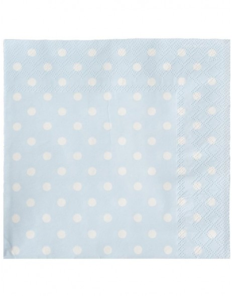 Coffee paper napkins Just Dots 25x25 cm blue