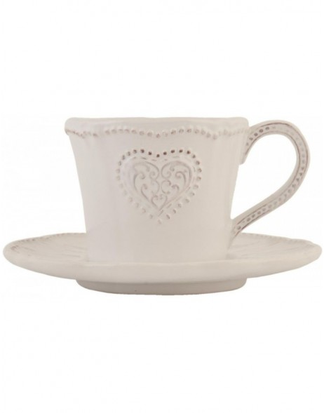 cup with saucer HEARS natural