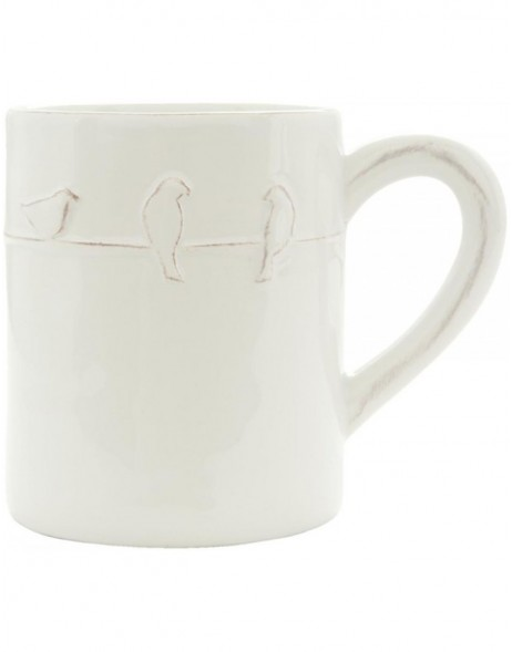 ceramic cup white BIRD