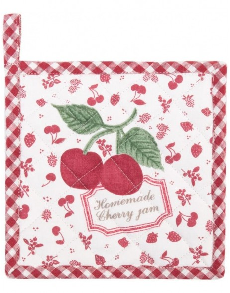 Children potholder red cherries