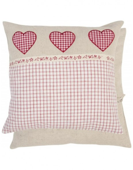 KT020  pillow  with heart 40x40 cm