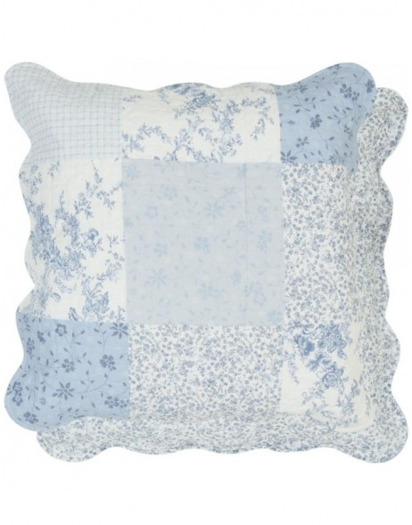 pillow cover  50x50 cm blue Patchwork