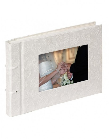 Kleines Kordelfotoalbum Wedding Rose