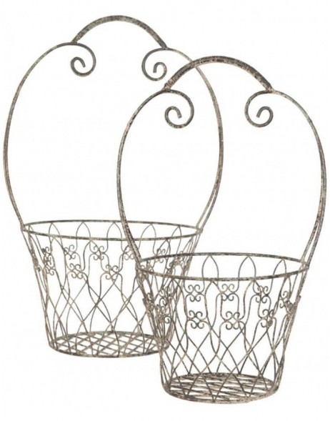 basket (2 pieces) brown - 6Y1479 Clayre Eef