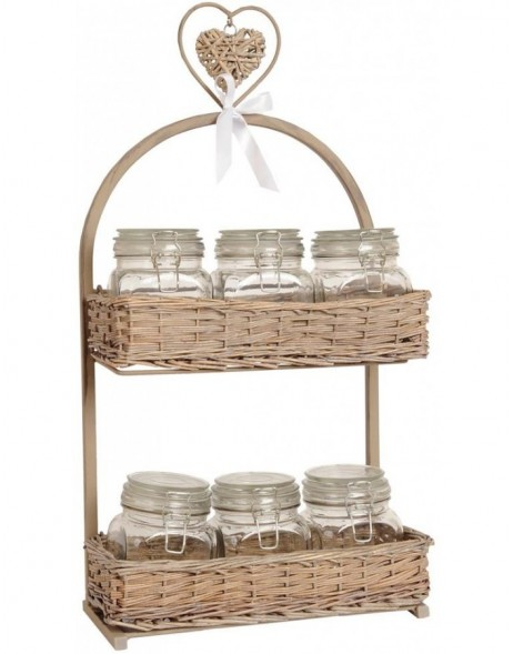 Basket with stand and glasses