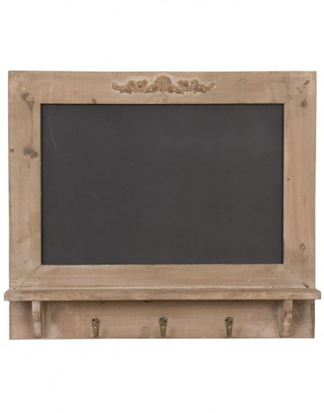 Chalkboard wooden 55 x 48 cm brown