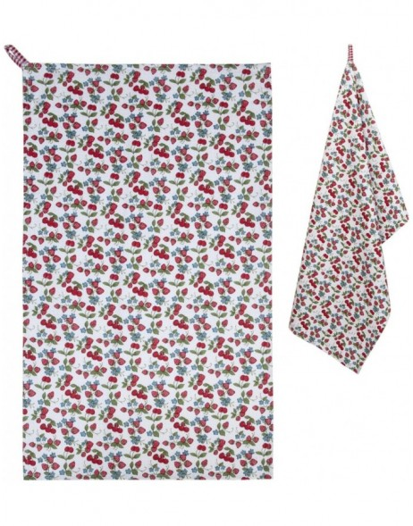 dish towel 50x85 cm - Strawberries and Cherries