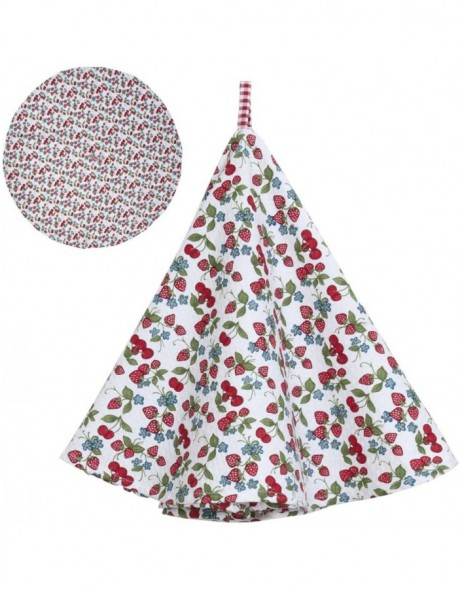 round dish towel 80 cm - Strawberries and Cherries