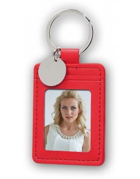 key chain 3,5x4,5 cm red