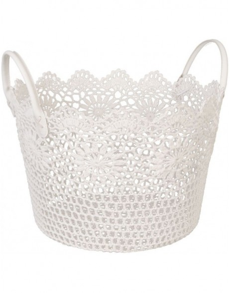 plastic-basket white - CR0128W Clayre Eef