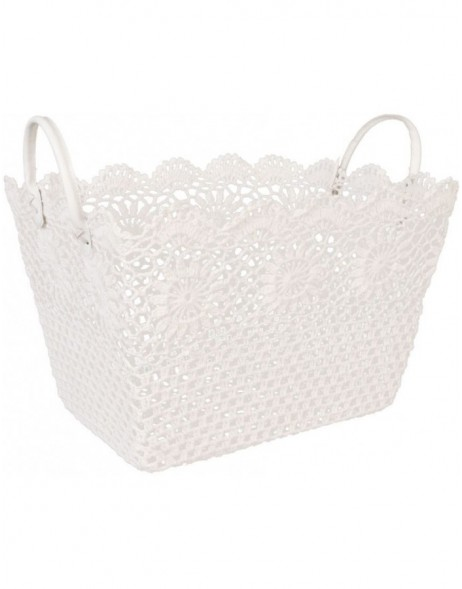 plastic-basket white - CR0130W Clayre Eef