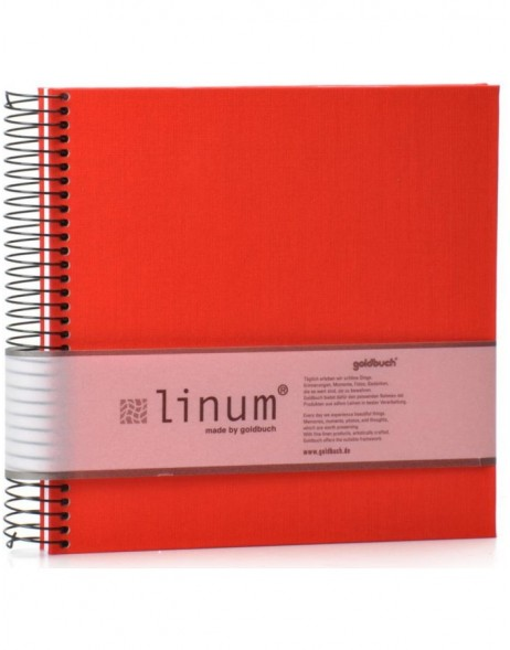 LINUM notebook in red