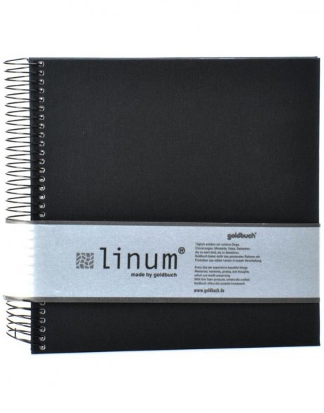 Linum black note pad 40 sides