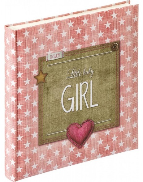 baby photo album LITTLE BABY GIRL 28x30,5 cm old rose