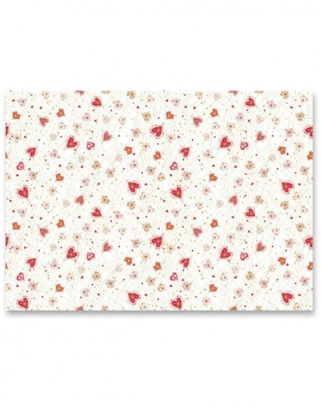 wrapping paper LITTLE HEARTS 50x70 cm