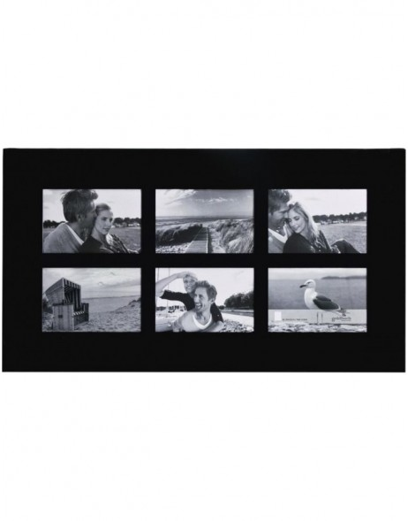LIVING gallery frame black 6 pictures 10x15 cm