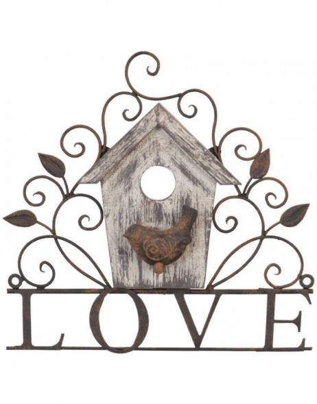 LOVE hanger decoration 27x26 cm