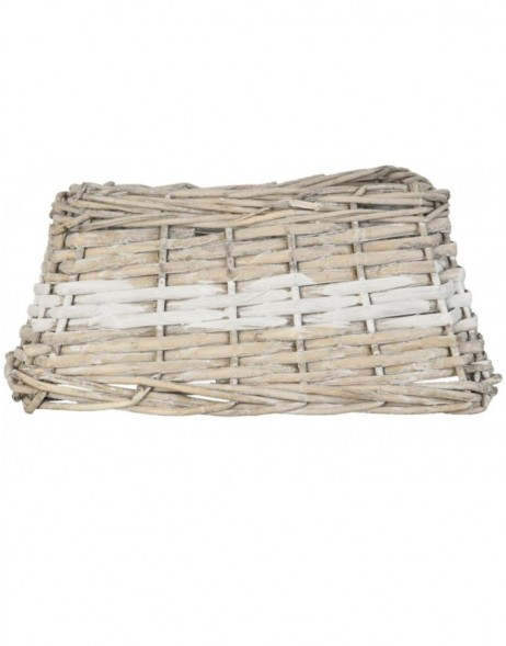 lamp shade 6LAK0285BW Clayre Eef - natural/bicoloured