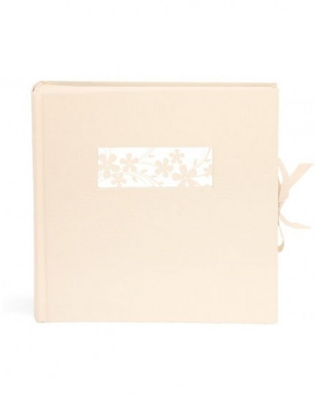 linen photo album 23x23 cm champagner