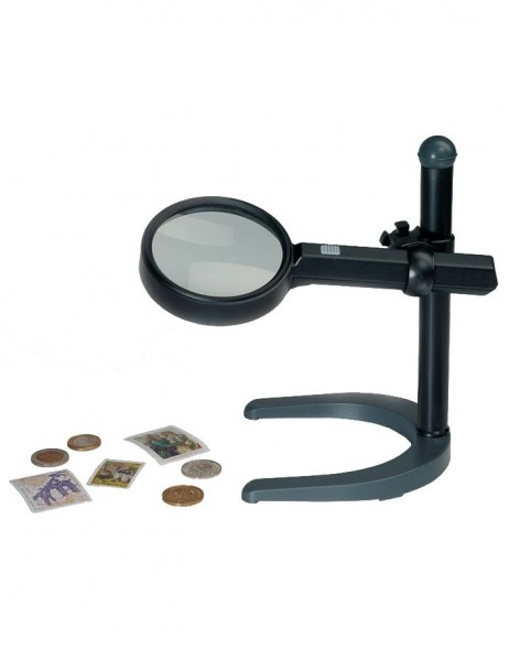 Illuminated Magnifier with stand, 2.5x magnification, with light, Ø 90 mm