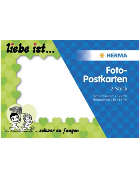 Liebe ist ... Photo post card - 2 pcs., green