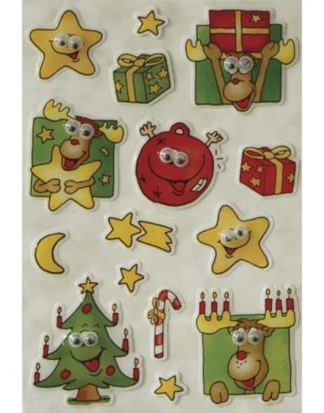 Decorative stickers MAGIC elk + symbols stone moving eys 1 s
