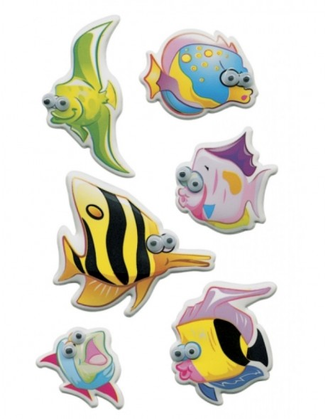 Decorative stickers MAGIC Fish, Moving eyes 1 Sheets