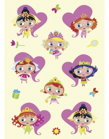 MAGIC decorative stickers princesses, stone, 1 sheet