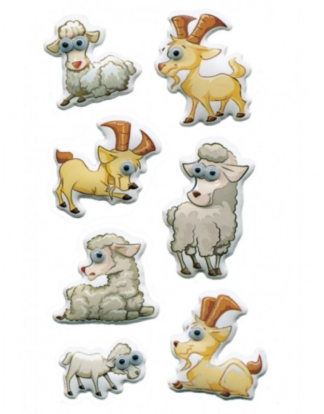 Decorative stickers MAGIC Goats and sheeps, Moving eyes 1 Sh