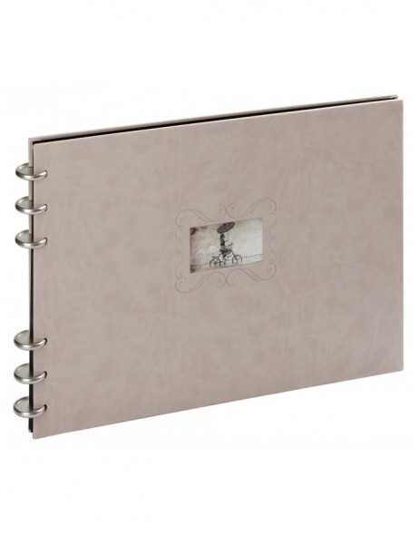 Beige leather photo album Zao black sides