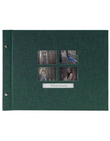 screw-bound photo album Modern Style green
