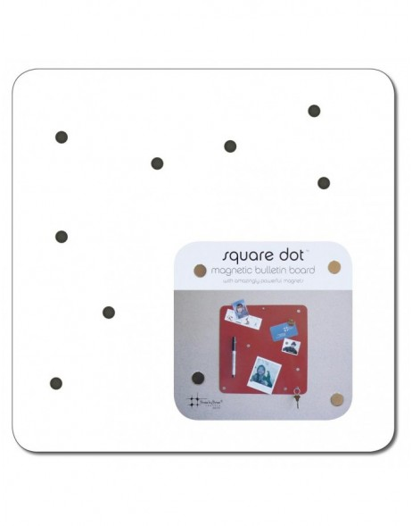 Magnet Board SQUARE DOT 30 cm in weiß